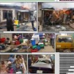 House And Shops Burnt In Lagos Gang War (See Pictures)