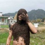 Man Covers Himself With Millions Of Bees in Kaski, Nepal – Viewers Discretion
