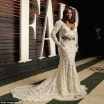 Serena Williams stunning white dress to the Vanity Fair Oscar Party (See Photos)