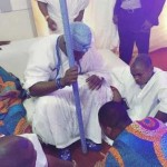 Rapper, Olamide Get Blessings from Ooni Of Ife As He Poses With The Royal Father (See Photos)