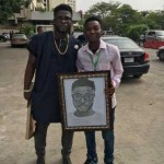 Fan Presents An Art Drawing Of Crazeclown To Him (See Photo)