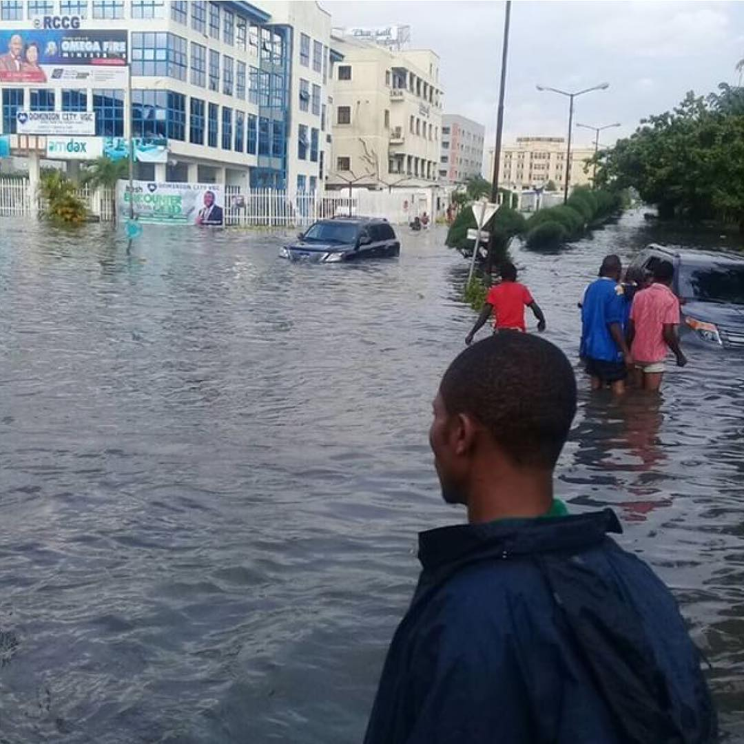 Check out some part of Lagos when its rains