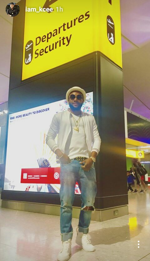 Kcee hits london in all dress gucci