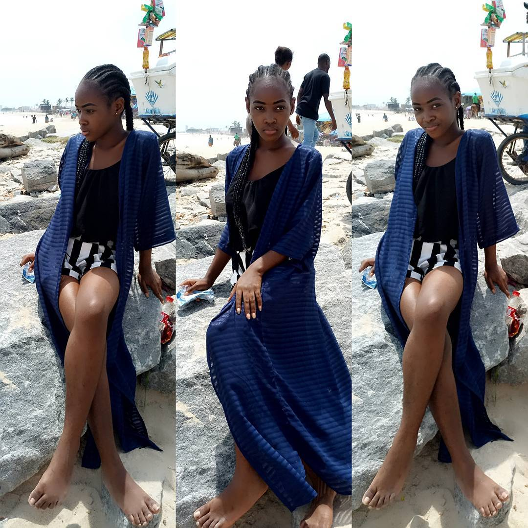 Nollywood Actress Daughter, Model Michell Aigbe Looking