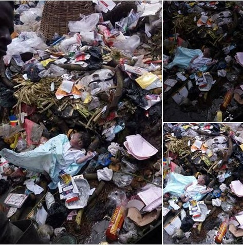 Baby Dies After Being Dumped By Mother At A Refuse Site In Port-Harcourt (Photos)