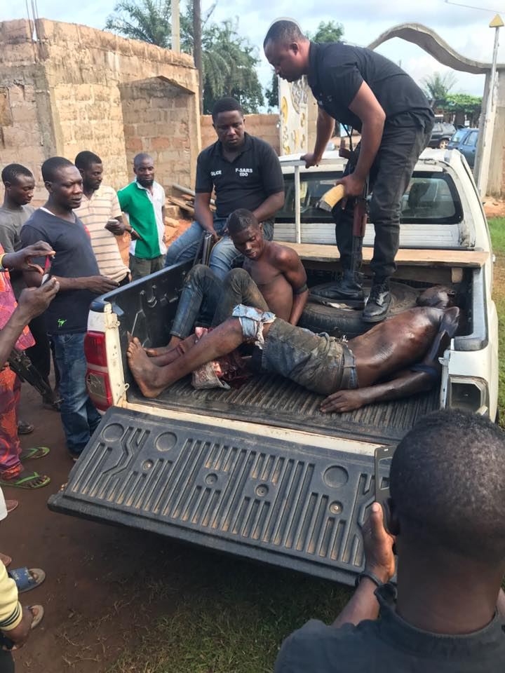 Robbers Caught By Residents After Breaking Through A Wall For Operation (Photos)
