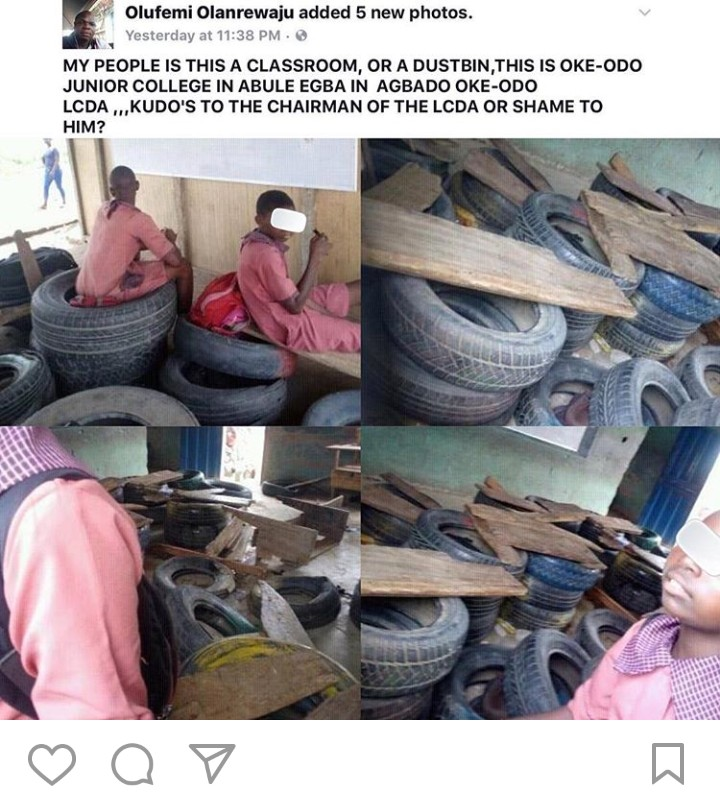 See What A Classroom Looks Like In Abule Egba, Lagos - 9jaflaver