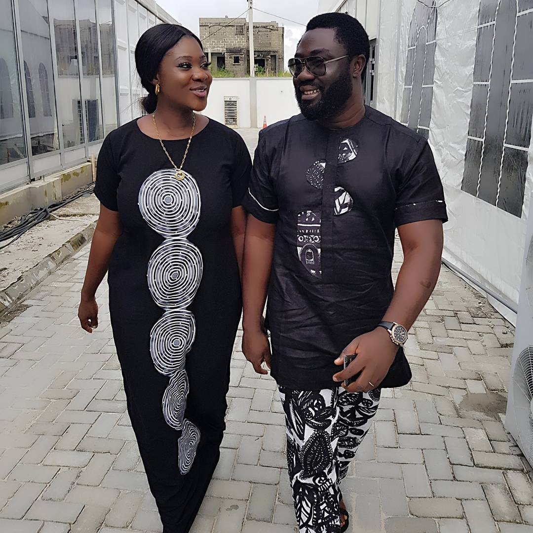 Mercy Johnson & Her Husband Rock Matching Outfit In New Loved Up Photos
