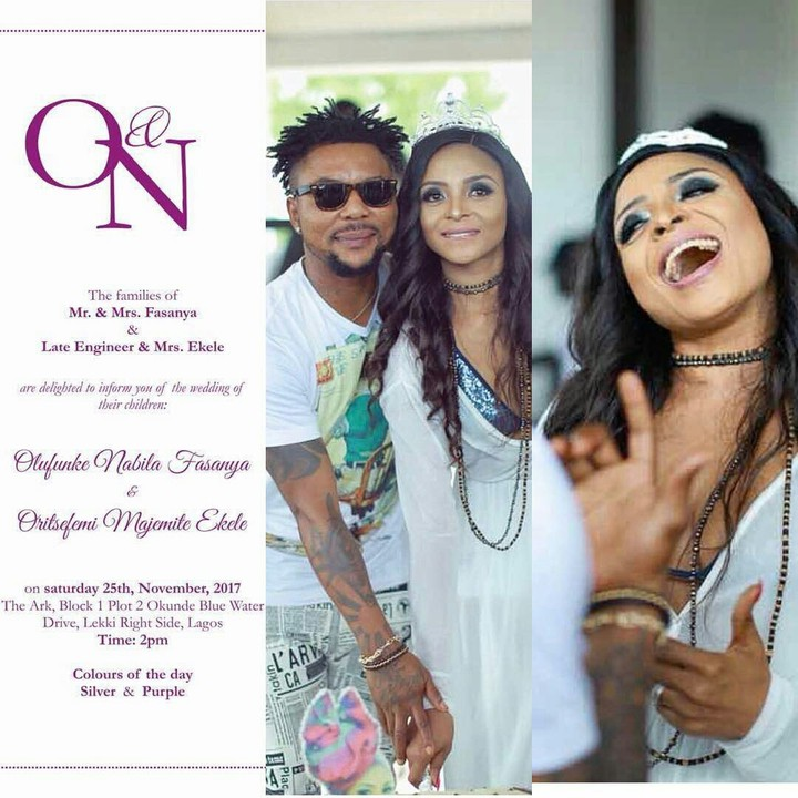 Photo Of Oritse Femi's Wedding Invitation Card