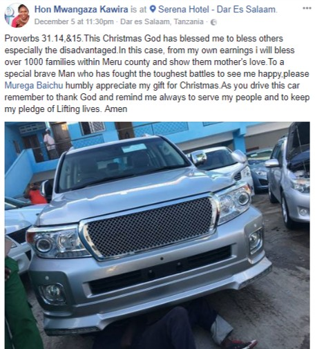 Kenyan Lawmaker Surprises Her Husband With N52m Prado Jeep For Christmas (Photos)