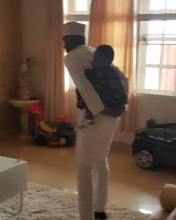 Actress Lilian Esoro's Ex-Hubby, Ubi Franklin Spotted Backing Their Son (Photos)
