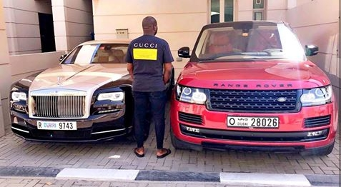 Image result for Mompha Poses With His Rolls Royce Wraith & Range Rover Autobiography