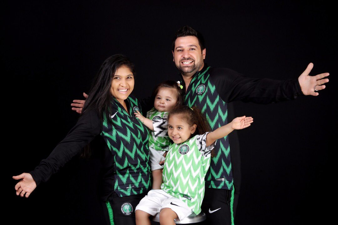 db2fe9891 Oyinbo Nigerian And Family Rock 2018 Super Eagles World Cup Jersey (Photos)