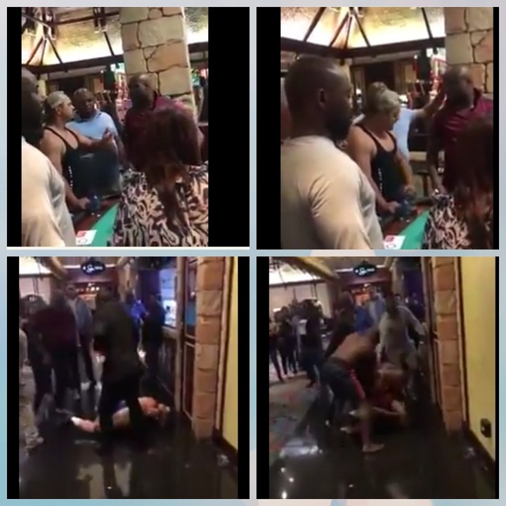 'You Dey Mad?': Nigerian Man Beats Up A Bully, South African Bodybuilder (Video, Photo)