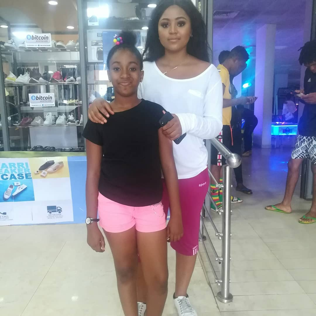 """[Gist] Kid Actress """"Adaeze"""" Pictured With Her Colleague As They Step Out On A Date"""