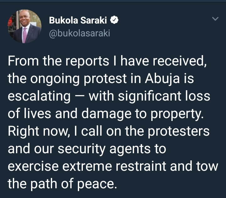 Bukola Saraki Reacts To The Ongoing Shiite Protest Happening In Abuja