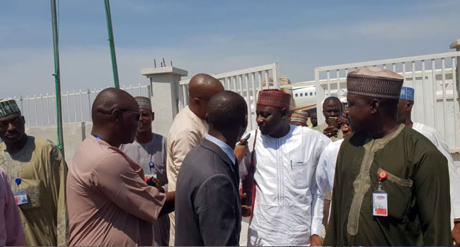 Jafar Arrives In Kano To Meet Lawmakers Over Bribery Allegation Against Ganduje (Photo)
