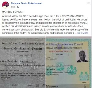 See What's Missing In Buhari's WAEC Attestation Certificate