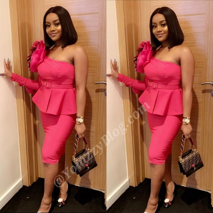 Davido's Girlfriend, Chioma Looks Gorgeous In Pink