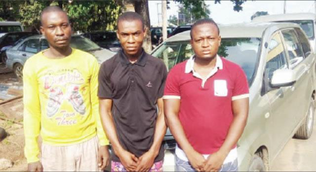 F-SARS Arrests Policeman, Others For Snatching Magistrate's Car (Photo)
