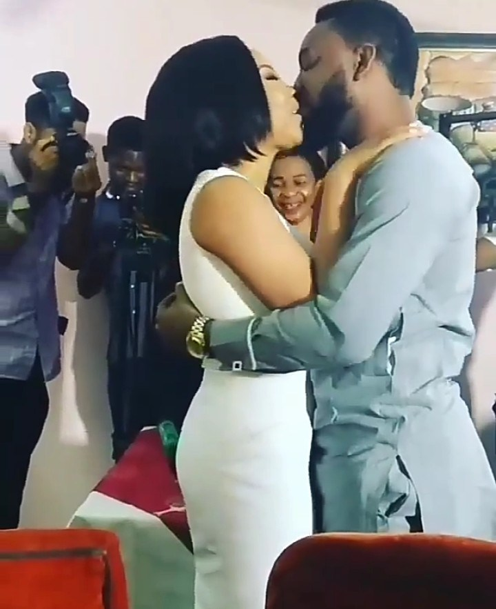 Actor Ibrahim Suleiman And Actress Linda Ejiofor Kiss At Their Court Wedding