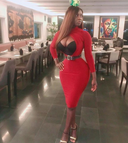 Actress Princess Shyngle Rocks Her Tiny Waist And Eye-Popping Cleavage