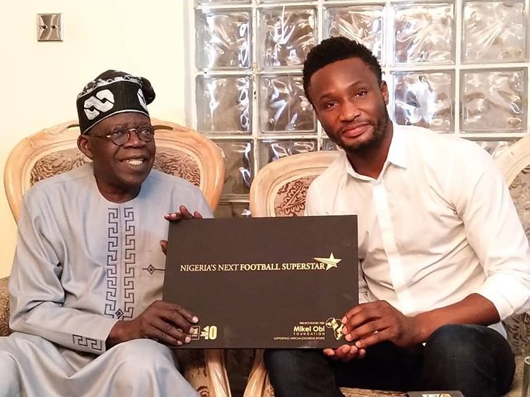 Photo: APC Leader Tinubu Endorses Mikel Obi
