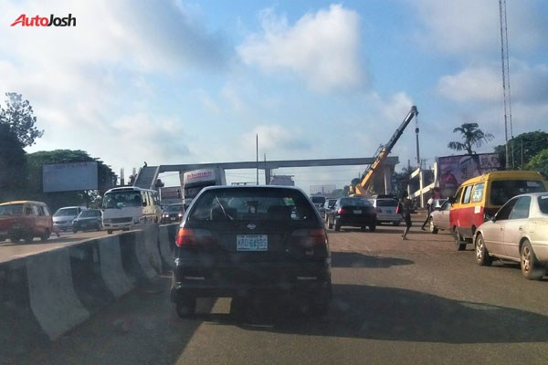 The Only Pedestrian Bridge In Edo State Is Currently Being Constructed (Photos)