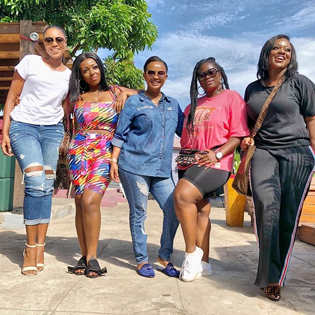 Yvonne Nelson, Jackie Appiah, Yvonne Okoro, Lydia Forson, McBrown Step Out Together