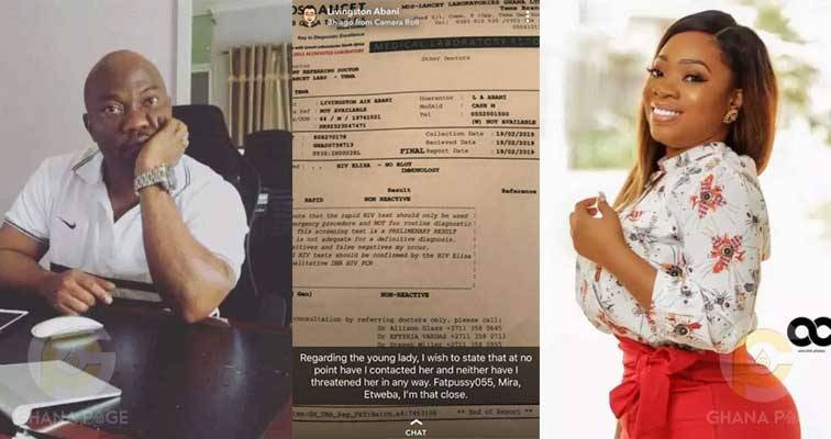 #ViralNow: Man Accused Of Being HIV Positive And Sleeping With Ghana Actress, Shares Test Result 5