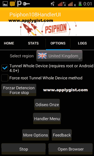 Latest Psiphon Handler V108 Is Out Settings For mtn Free Browsing