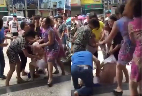 A Woman Was Stripped Naked In The Street By A Gang Of