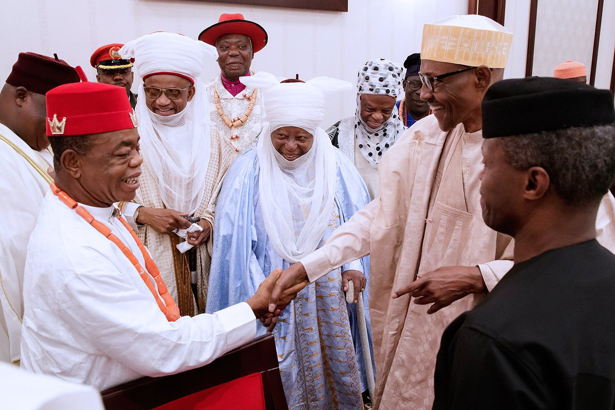 President Buhari And The Sultan Of Sokoto, Ooni Of Ife And