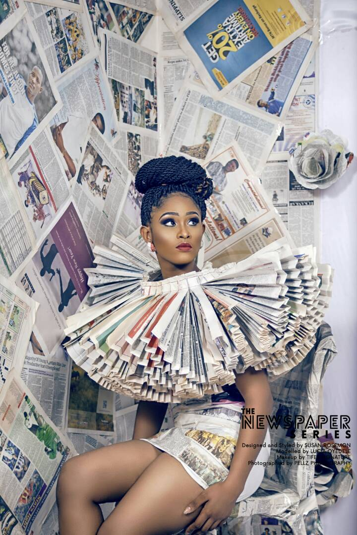 Young Nigerian Fashion Designer Looks Hot Innewspaper Outfits Photos 9jaflaver