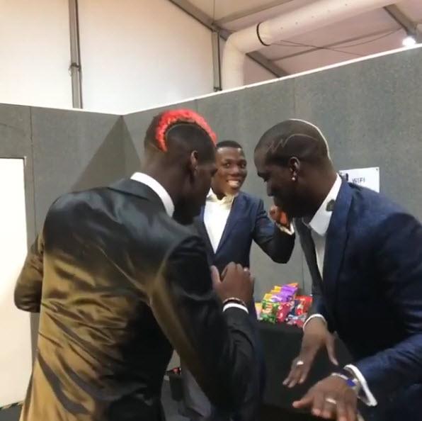 Paul Pogba & His Lookalike Twin Brothers Dance At MTV EMA