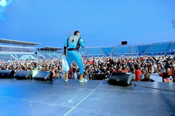 Picture Of Wizkid Performing In Botswana Despite News Of A