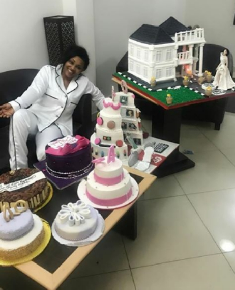 Mercy Aigbe Got 8 Cakes On Her 40th Birthday Photos