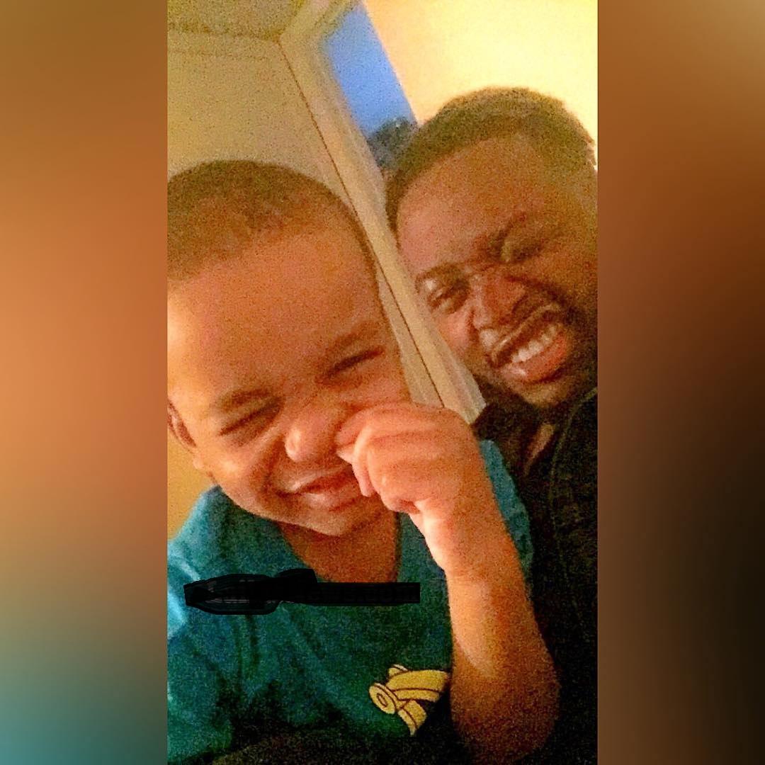 See Cute Photos Of BBNaija 2018 Housemate Teddy And His Son