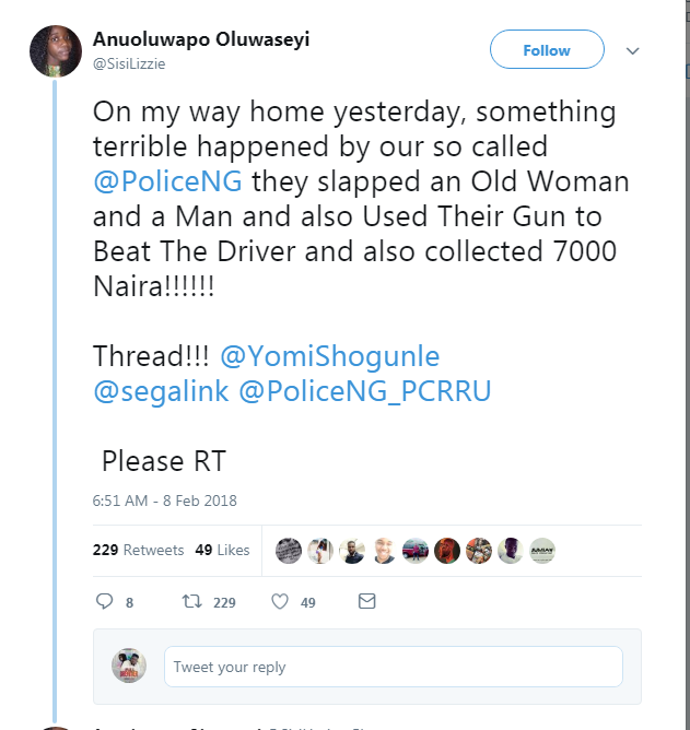 Police Slapped An Old Woman, Beats up Driver With Gun, Because of  7k In Lagos – Twitter Lady tells