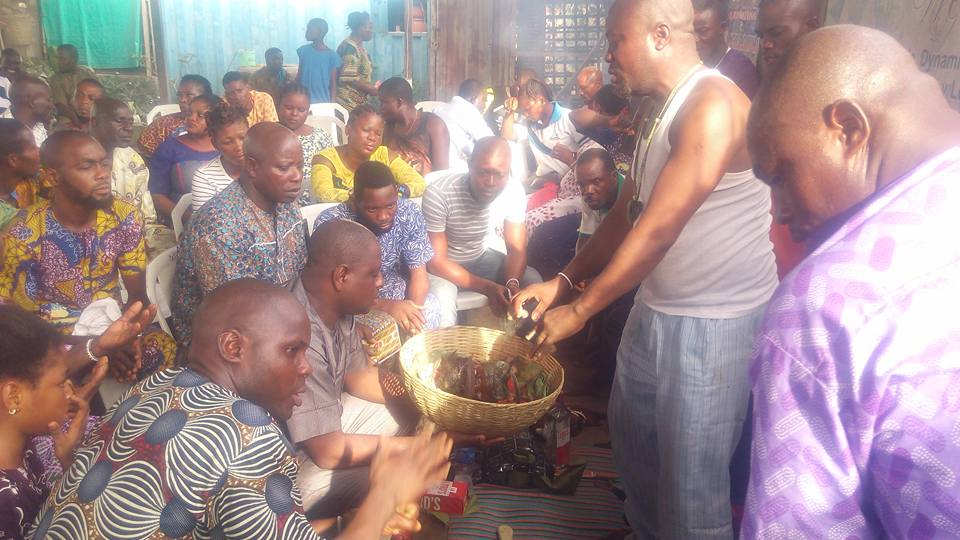 OPC Members Fortify Themselves, And Their Weapons Spiritually In Lagos (See Photos)