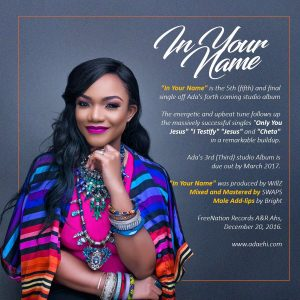 Download Music Mp3:- Ada - In Your Name - 9jaflaver