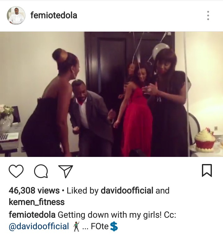 Femi Otedola, His Wife & Their Daughters Dance & Party