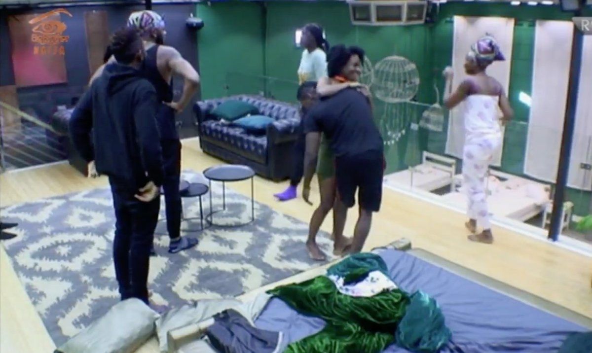 Housemates React As Anto And Khloe Return To The House - BBNaija 2018:- See How Housemates Reacted When They Saw Anto And Khloe This Morning