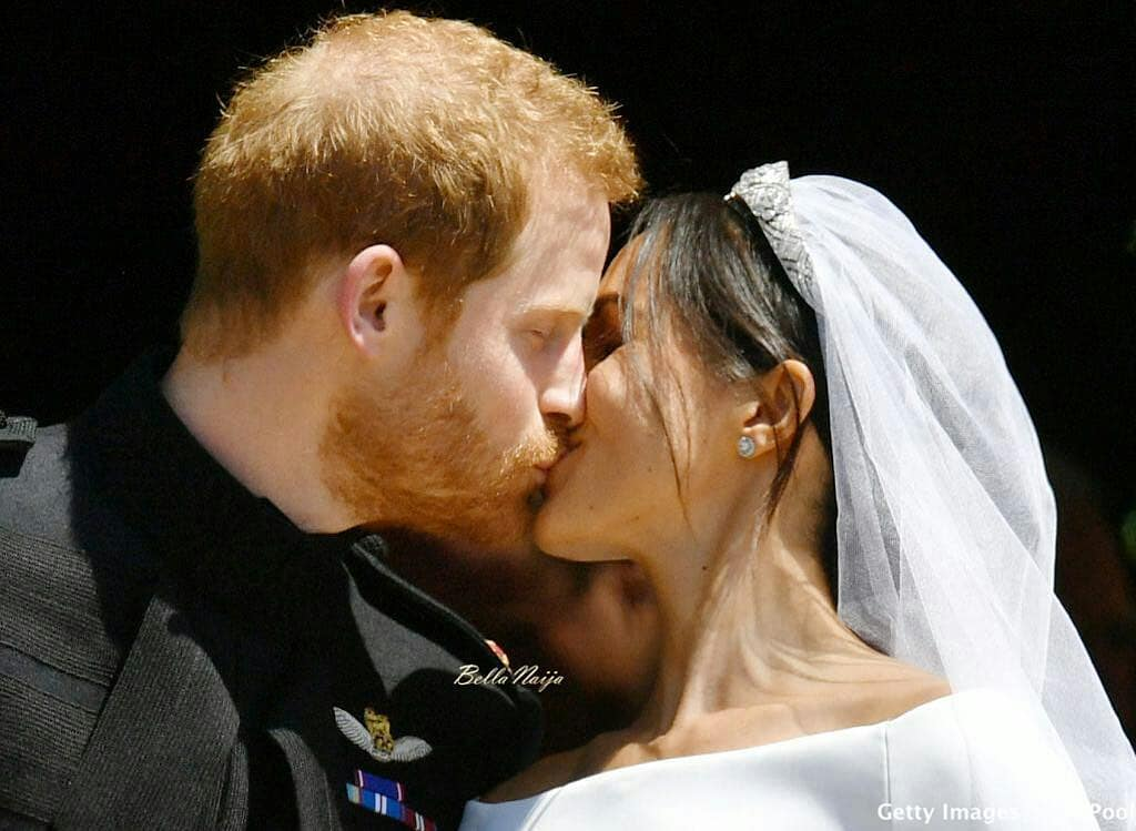 "Royalwedding:- The Kiss To Seal Forever!! The Moment Prince Harry Kissed His Bride ""Meghan Markle"""
