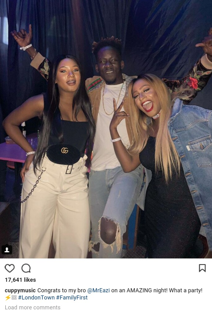 DJ Cuppy, Mr Eazi And His Girlfriend Temi Otedola Party Together In London (Photos)