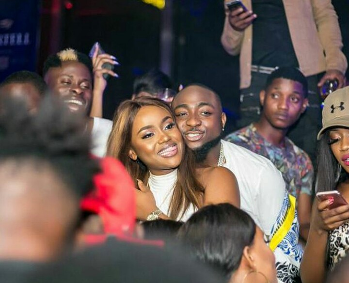 Davido, Wizkid, Chioma And Tiwa Savage Party In Club After Headies