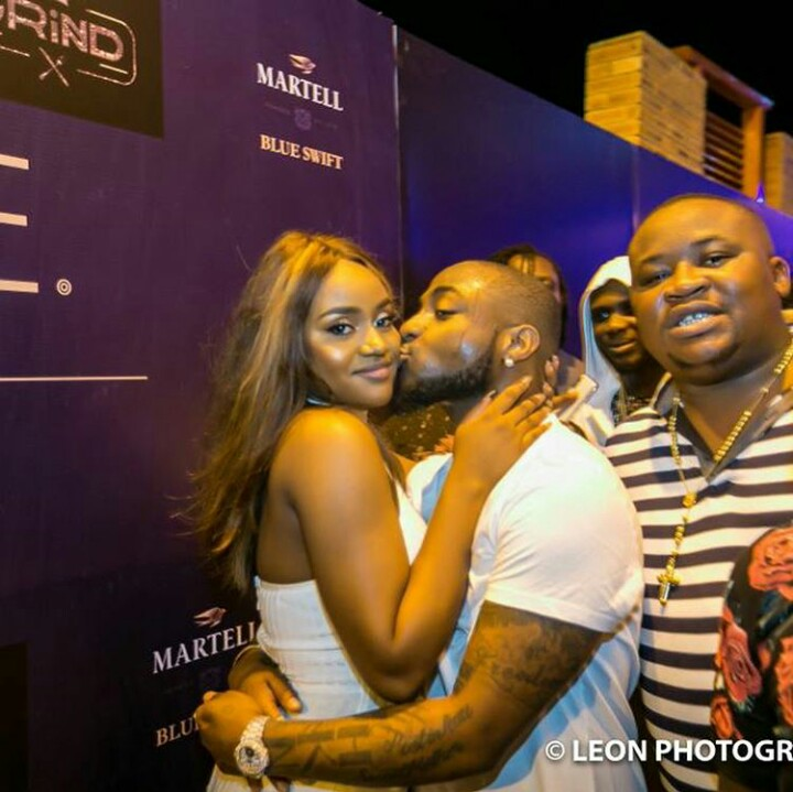 Davido, Wizkid, Chioma And Tiwa Savage Party In Club After