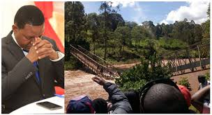 Governor In Kenya Plunges Into River While Taking Selfie On Newly-Built Bridge