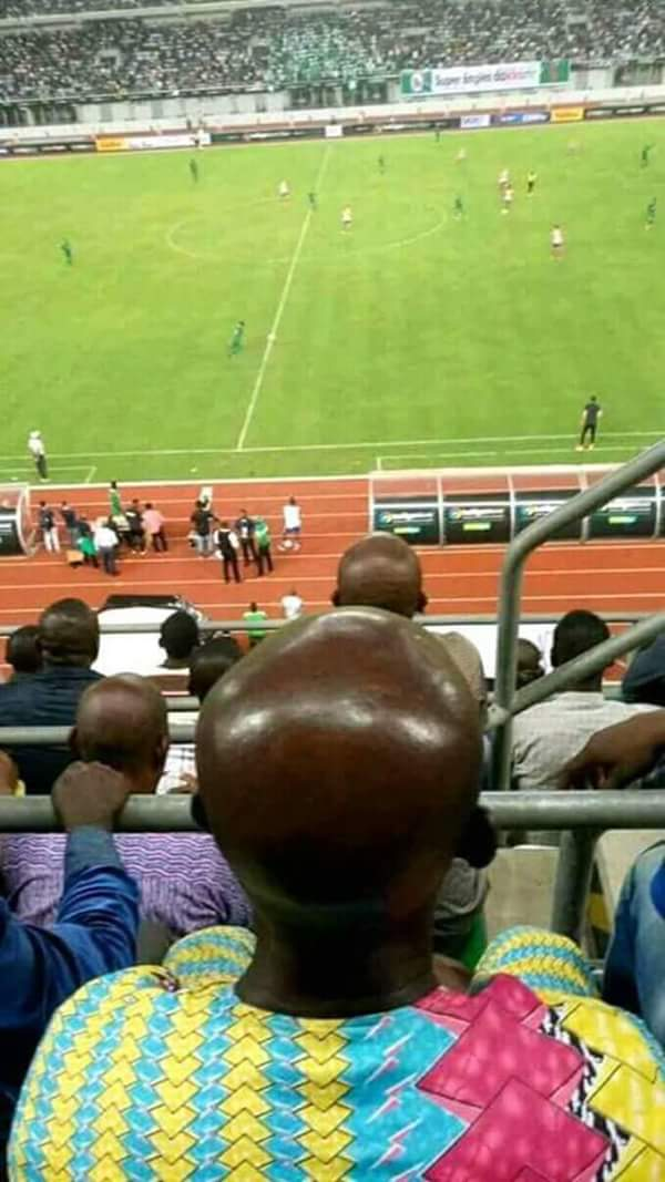 See Head Of Man Spotted At Nigeria Vs Atletico Madrid Game That Has Gone Viral