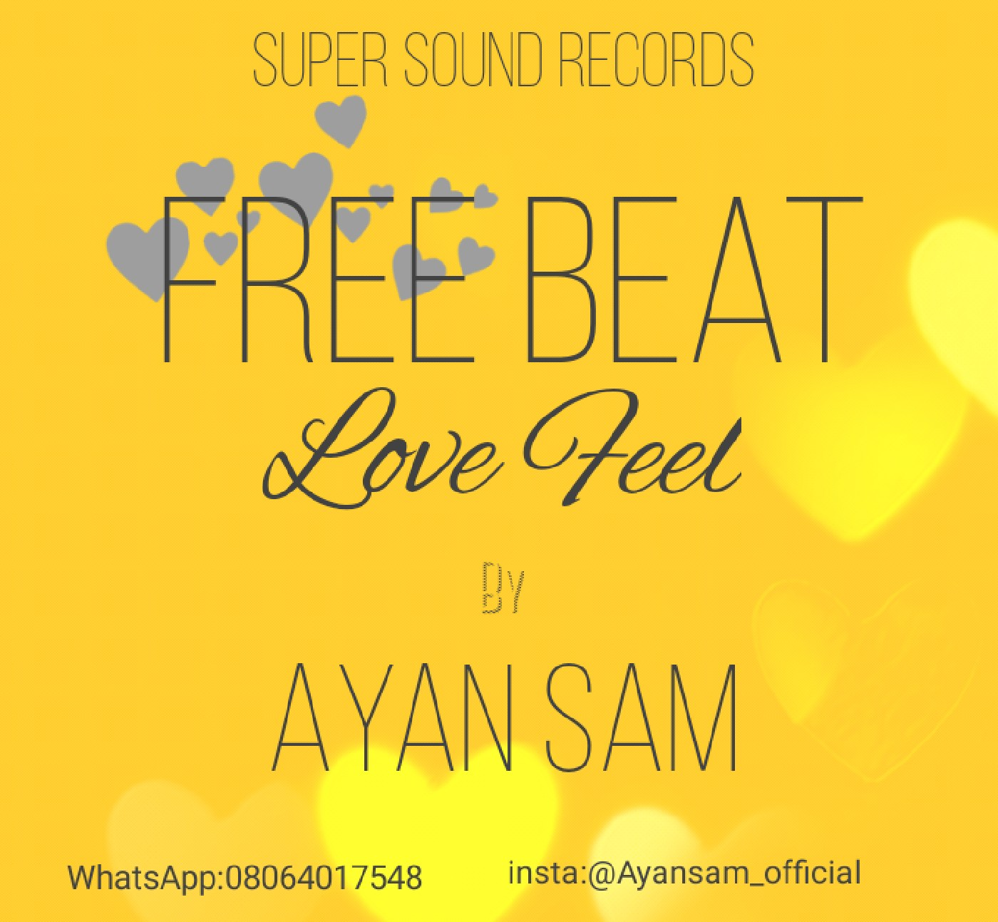 Download Freebeat:- Love Feel Afro (Prod By Ayan Sam) - 9jaflaver